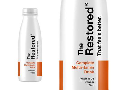 The Restored pt4 branding logo packaging identity supplement design start up label wellness sage vitamins vitamin multivitamin
