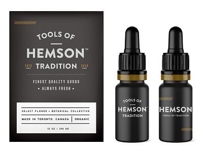 Hemson Pt2 brand lifestyle outdoors toronto botanic flowers identity typography design packaging cbd weed cannabis startup canada logo branding