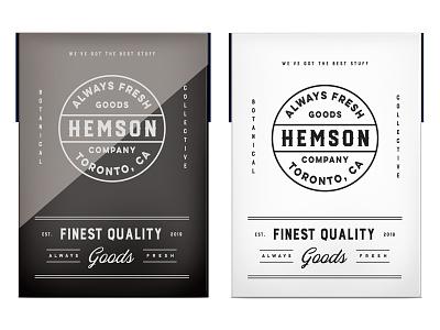 Hemson pt3 branding logo canada startup cannabis weed cbd packaging design typography identity flowers botanic toronto outdoors lifestyle brand