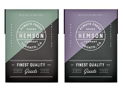 Hemson pt3.2 brand lifestyle outdoors toronto botanic flowers identity typography design packaging cbd weed cannabis startup canada logo branding