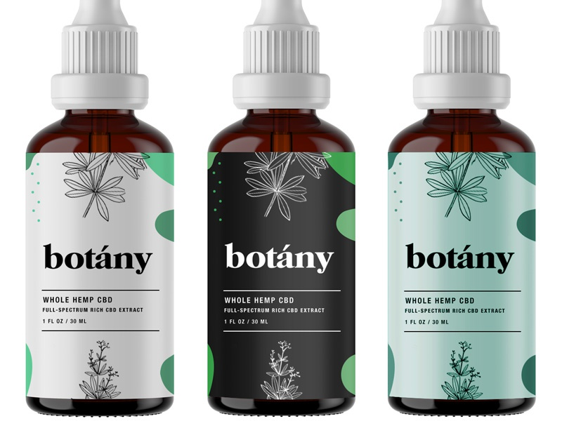 Botany pt.3 startup logo startup branding bottle label packaging bottle startup los angeles oil wellness cbd oil hemp cbd