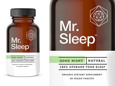 Mr. Sleep pt1.2 branding packaging logo identity label sleep supplements science space symbol sleeping bottle container bottle label sleeping beauty design