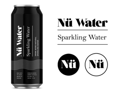 Nü Water pt.1.2 branding logo packaging identity water beverage startup uk sparkling spring logotype design package design