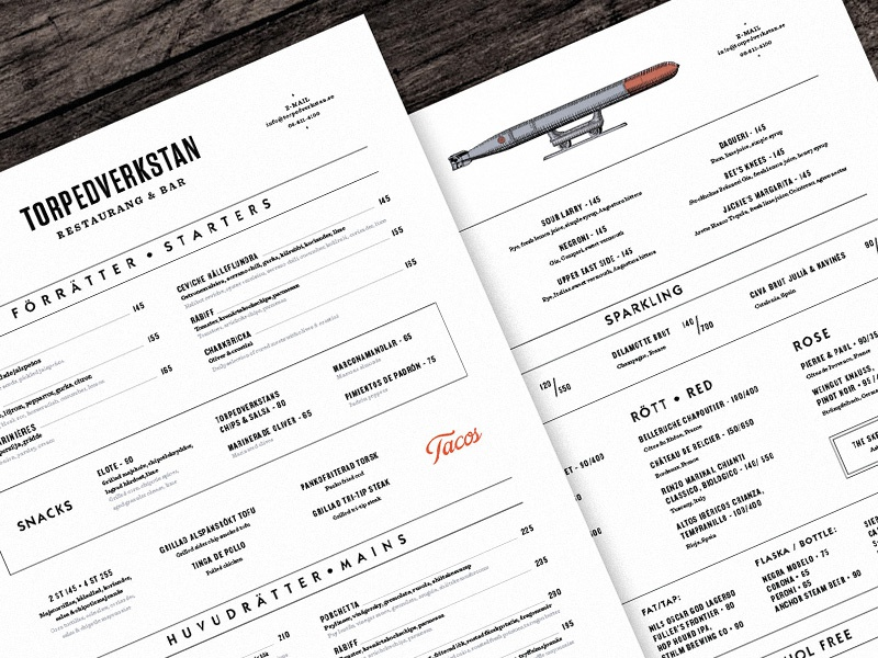 Tvr menu