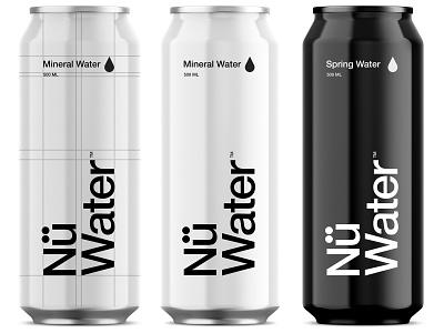 Nü Water pt.2 branding logo packaging identity water beverage startup uk sparkling spring logotype design package design
