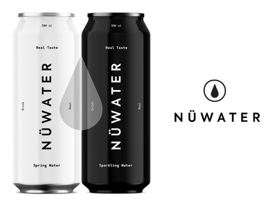 Nü Water pt.3 canned water can natural package design design logotype spring sparkling uk startup beverage water identity packaging logo branding