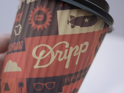 Dripp Paper Cup 12 Oz illustration cup wifi v60 shop pattern palm no1 mustache music mobile iphone ice cream glasses french press dripp bar republic mug goat fixed camera bike bean packaging espresso icon coffee california losangeles