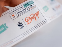 Dripp water label close up