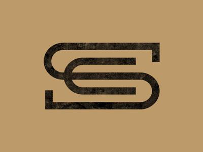 SC Monogram lettering typography font hand made coffee espresso classic monogram slabserif logo dripp espresso republic