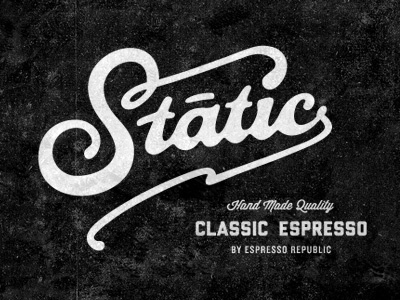 Static Coffee Lettering typography font hand made coffee espresso classic monogram slabserif coffee food beverage italian cafe dripp espresso republic