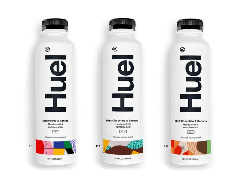 Pattern Exploration for Huel pattern london uk startups easy replacement drink food and drink food wellness startup bottle packaging design branding design identity logo branding