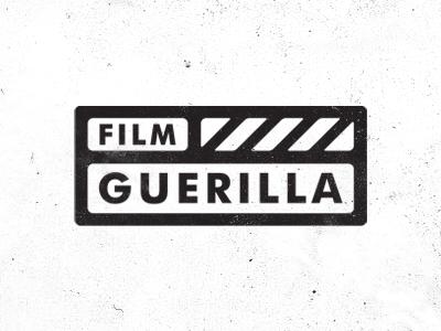 Film Guerilla film stationary clapper clapperboard logo identity branding germany design black texture