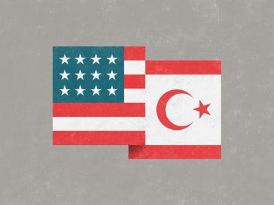 Turkish Cypriot-Americans logo new jersey turk turkey turkish cypriot immigration america us usa flag illustration cypriot cyprus turkish american newyork