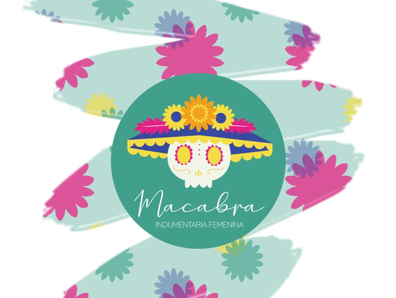 Logo MACABRA logotipo emprendimiento indumentaria branding logo design illustration