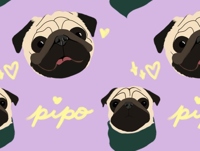 Pipo lockscreen wallpaper lockscreen dog illustration dog design illustration