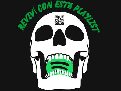 Skull spotify skull art skull spotify design illustration