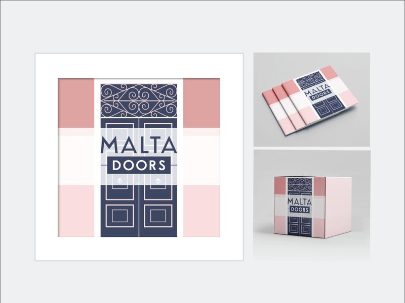 'Maltadoors' Logo concept fictional rebranding mockup vector branding logo design
