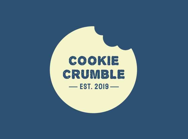 Cookie Crumble branding visual identity visual design packaging design packaging vector mockup logo fictional design concept branding
