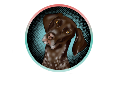 Pointer procreate curiosity pointer dog illustration germanpointer