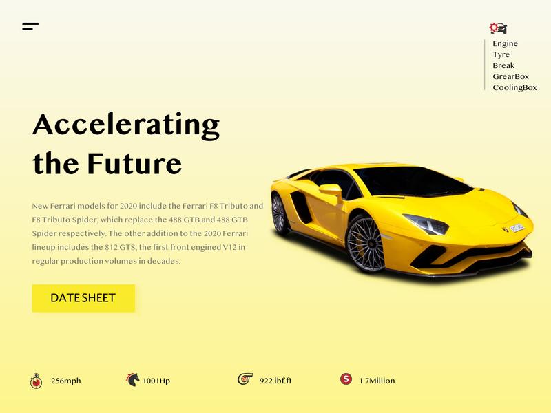 Ferrari WebLanding Page typography design web ux ui