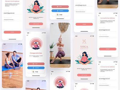 Yoga Mobile app Layout website design web ux ui