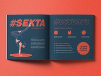 Magazine spread for #SEKTA portfolio typogaphy type story spread publication magazine layout design