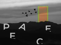 ✌️ peace sign collaborate illustration color artwork branding minimal design typography manifesto manipulation manipulate adobe photoshop