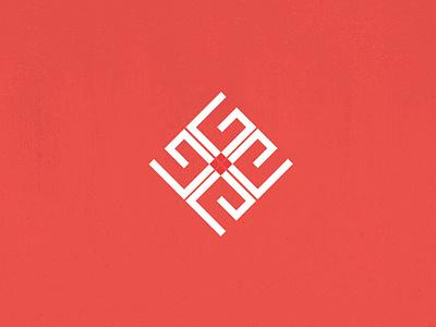 Kufic Logo icon adobe color illustration minimal collaborate branding typography logos logotype logo design logo