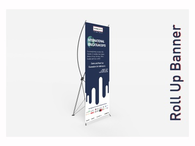 Roll Up Banner standee rollup banner ad banner adobe photoshop artwork design typography branding vector