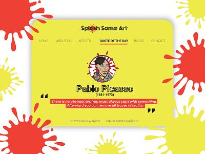 'Self-Portrait'  Pablo Picasso (1907) Webpage typography branding color artwork illustration websites website concept website design website pablo picasso dribbble