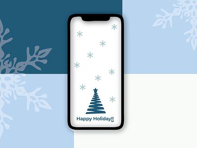 Happy Holiday! uidesign ui branding mobile app christmas