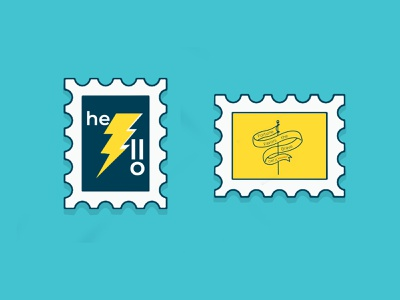 Stamp it this year! branding dribbbleweeklywarmup dribbble print design stamp weekly weeklywarmup