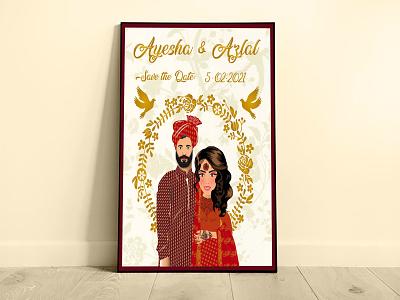 Indian/Pakistani Wedding Card illustration vector pakistani indian wedding invitation wedding card dribbble weeklywarmup