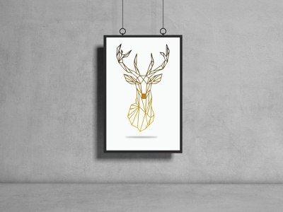 Think like A Deer polygon vector adobe minimal branding deer illustration dribbble dribbbleweeklywarmup