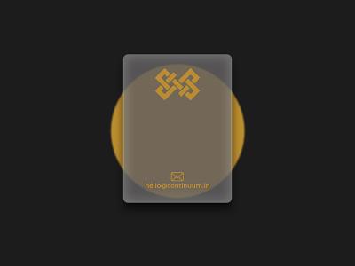 Glass Business Card logo brand identity branding business card design business card glassmorphism glassy