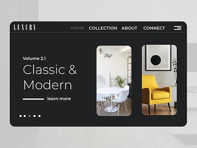 Website interface minimal typography design branding interior dribbble ui black interface website design website web