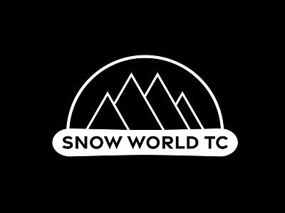Snow World - Full Logo vector branding logo design