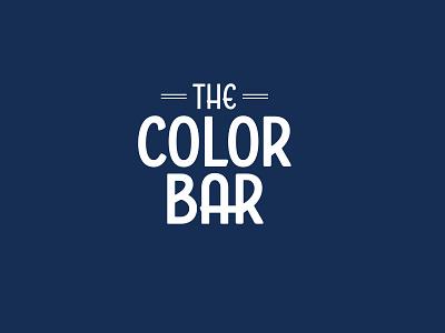 Color Bar - Full Logo wordmark branding logo design