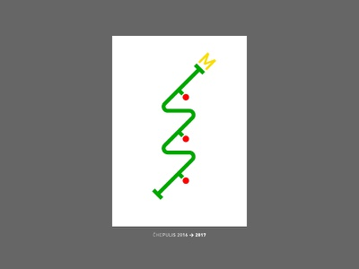 Yolka 2016 — the other New Year tree poster new year 2017 2016 metro map poster yolka graphic