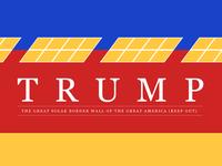 Solar border wall