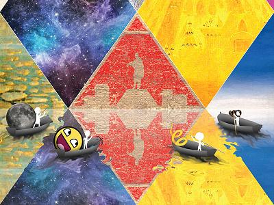 Harlequin's Futurism chaepitie poster graphic