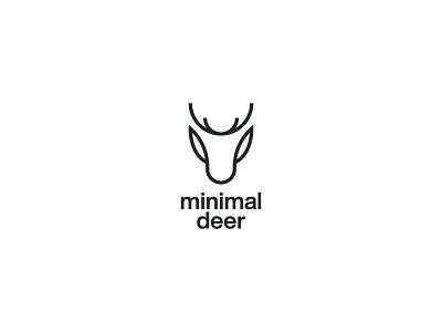 Minimal Deer Logomark symbol monogram logodesign logos logotype icon branding logo deer wild