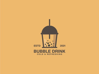 Bubble Drink Logo coffee tea symbol logodesign icon brand logo logotype bubble drink