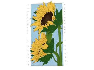 Sunflowers in August icon digital illustrator illustration digital illustration digital art design artist art