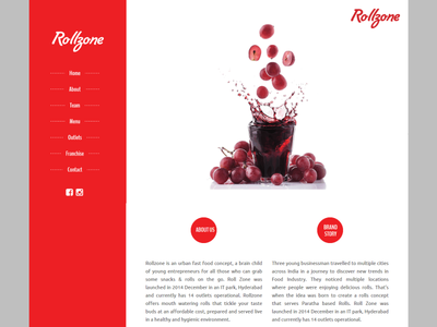Rollzone is an Urban Fast Food Concept 3koti websolutions 3koti webdesigner logo design typography website development website design ux ui web design