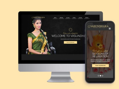 Vasundhara Salon design website beauty parlor salon ui 3koti websolutions 3koti