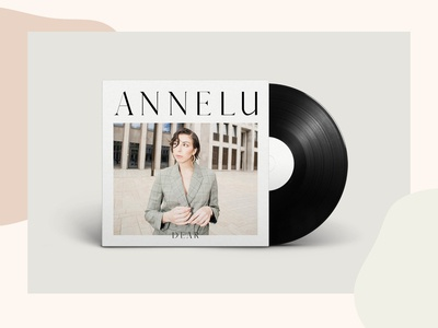 Annelu »Dear« Single Cover design vinyl printdesign branding design musician branding art direction music cover music