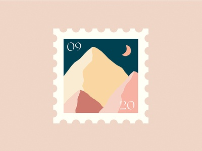 Stamp Illustration of »Südtirol« stamps nature landscape mountains dolomiten digital artwork procreate pastel colors pastel illustration artwork stamp design stamp