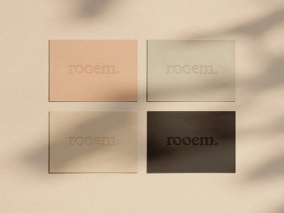 rooem. Branding pastel colors art direction design embossed design corporate branding corporate identity business card design businesscard branding design print designer print design branding art direction