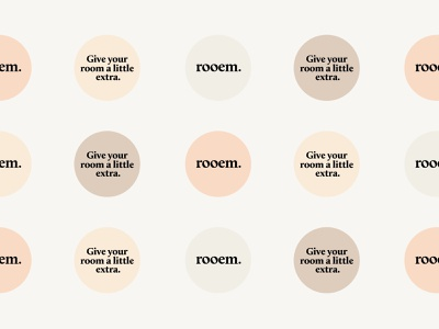 rooem. Branding printdesign pastel colors logo corporate branding logo design branding design branding design sticker design art direction stickers sticker